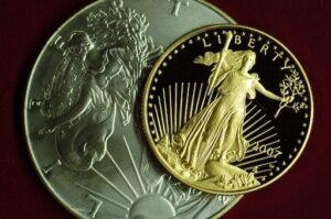 アメリカンイーグル金貨と銀貨
