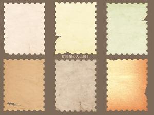 シミのある6枚の切手
