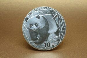 中国のパンダ銀貨