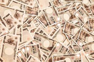 大量の1万円札の画像