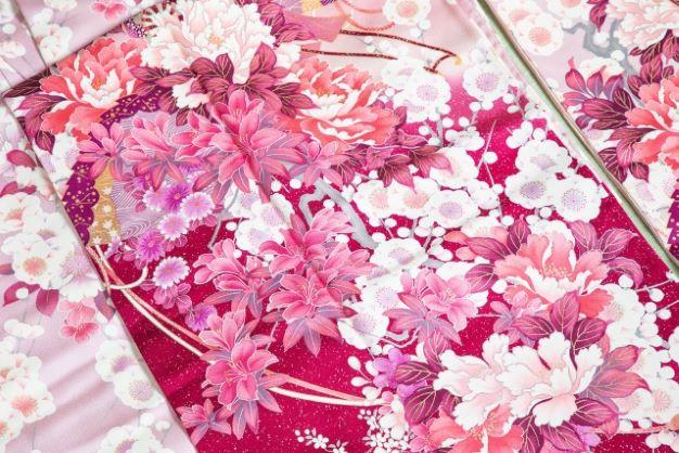 桜柄の振袖